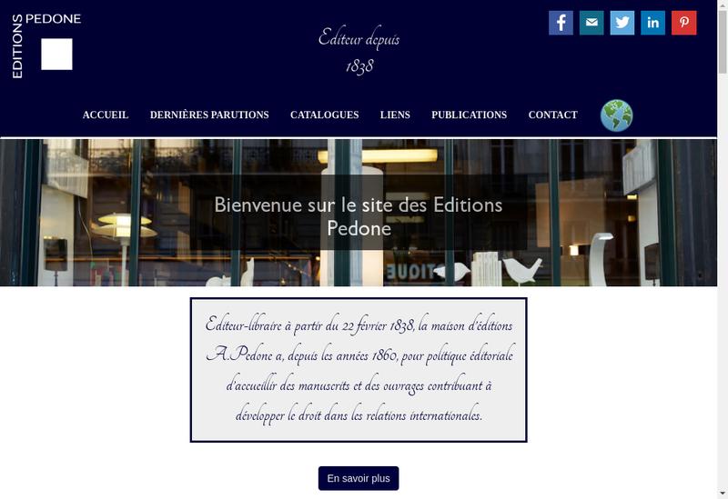 Capture d'écran du site de Editions à Pedone