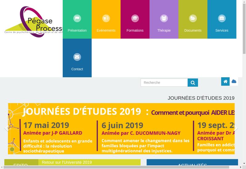 Capture d'écran du site de Pegase Processus