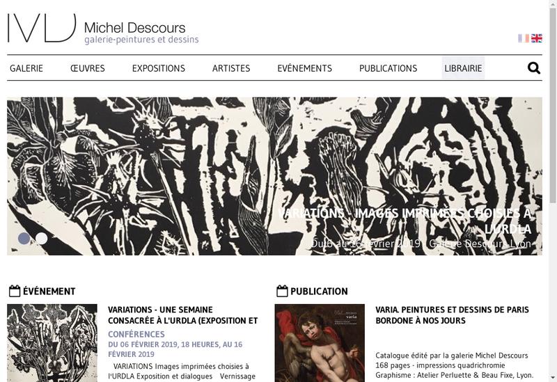 Capture d'écran du site de Galerie Michel Descours