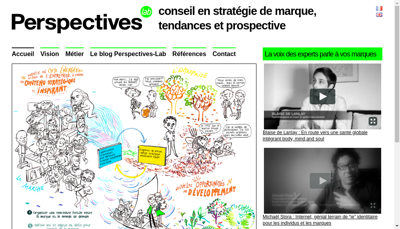 Capture d'écran du site de Perspectives Lab