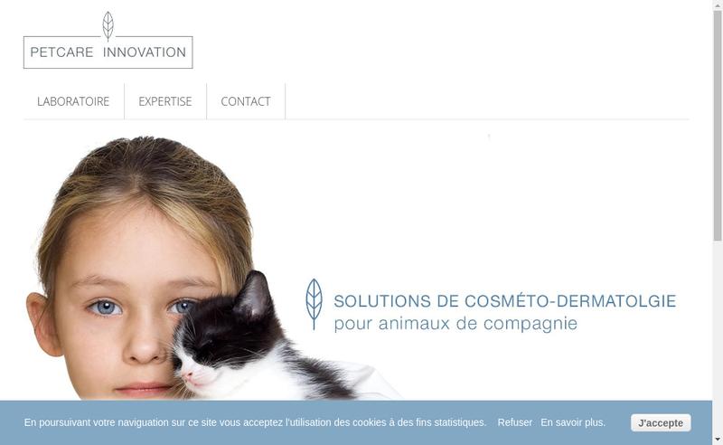 Capture d'écran du site de Petcare Innovation