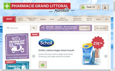 Site internet de Pharmacie Grand Littoral