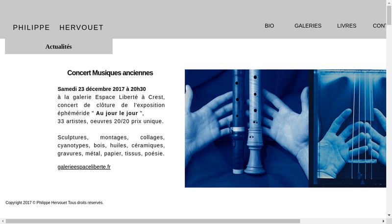 Capture d'écran du site de Philippe Hervouet
