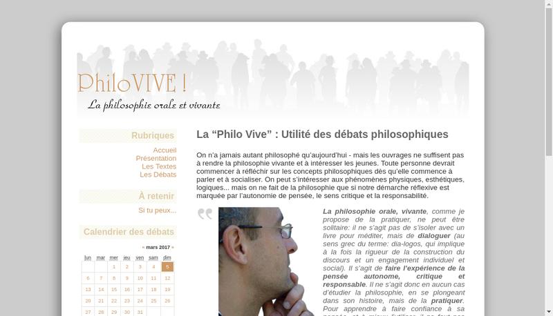 Capture d'écran du site de Philovive-Cabinet de Philosophie