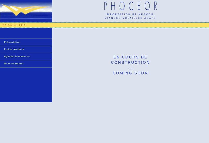 Capture d'écran du site de Phoceor