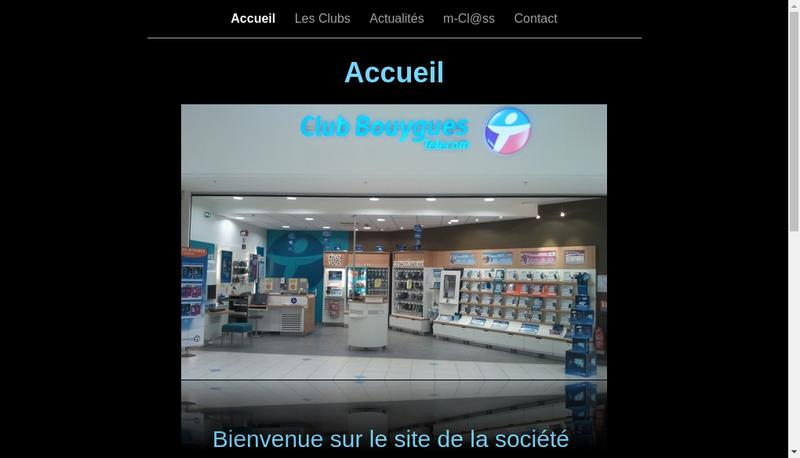 Capture d'écran du site de Club Bouygues Telecom