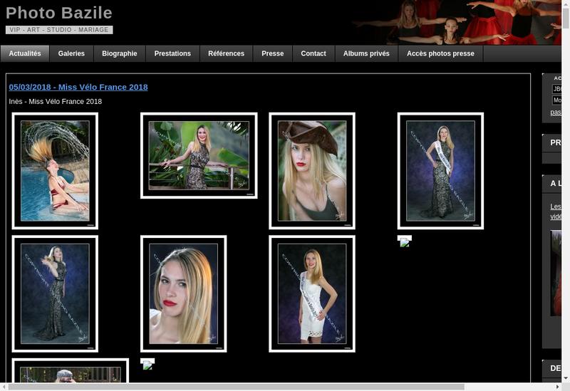 Capture d'écran du site de Image Libre Studio