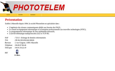 Site internet de Phototelem