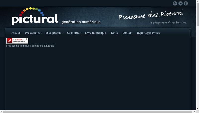 Capture d'écran du site de Pictural