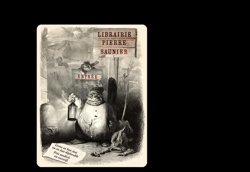 Capture d'écran du site de Librairie Pierre Saunier