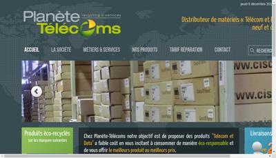 Capture d'écran du site de Sesc Telecom Afrique, Planete Solar, P