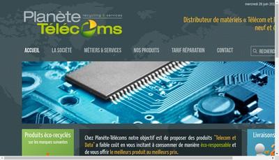 Site internet de Sesc Telecom Afrique, Planete Solar, Planete Telecoms, Planete Telecoms Export