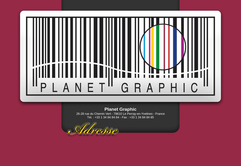 Capture d'écran du site de Planet Graphic