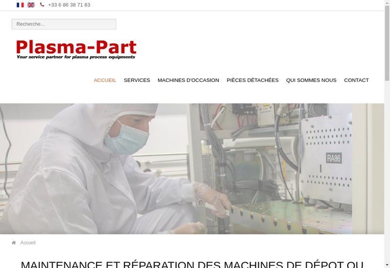 Capture d'écran du site de Plasma Part