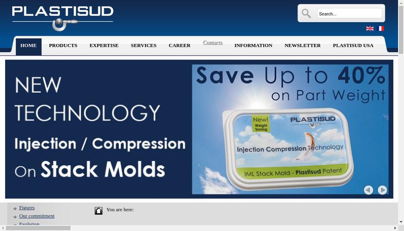 Capture d'écran du site de Plastisud