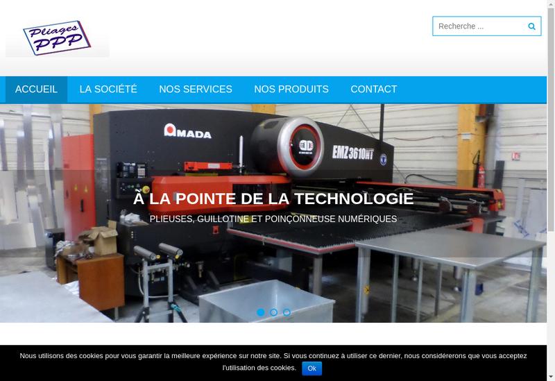 Capture d'écran du site de SARL Pliages Pissy Povillais