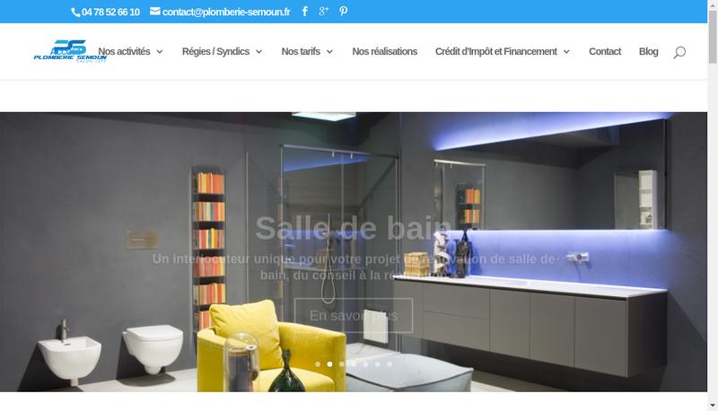 Capture d'écran du site de Plomberie Semoun