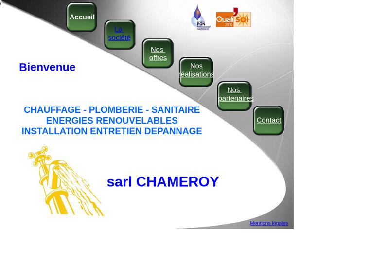 Capture d'écran du site de SARL Chameroy