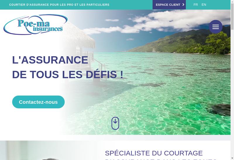 Capture d'écran du site de Poe Ma Insurances