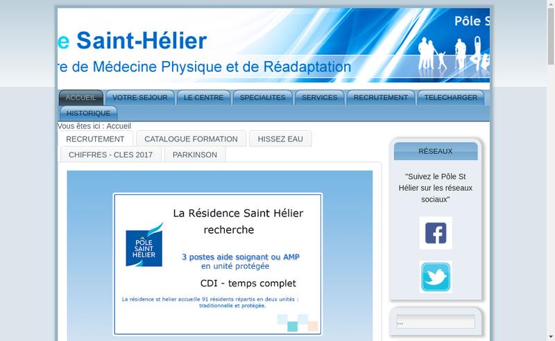 Capture d'écran du site de Association Hospitaliere Saint Helier