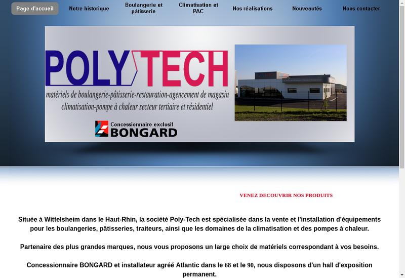 Capture d'écran du site de Poly Tech