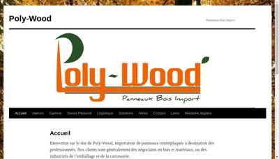 Capture d'écran du site de Poly Wood