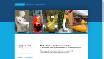 Capture d'écran du site de Poly 2000