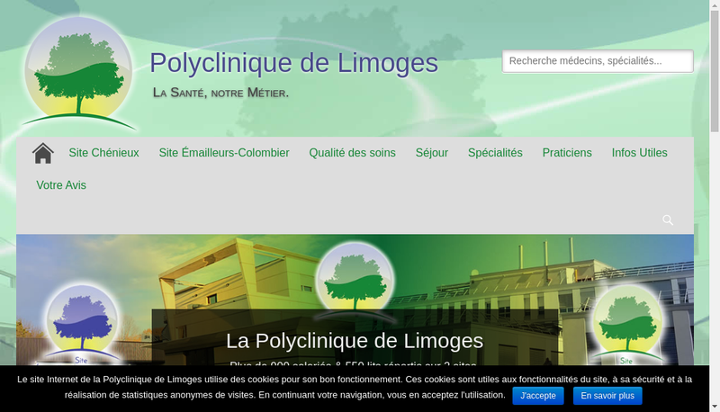 Capture d'écran du site de Clinique Francois Chenieux