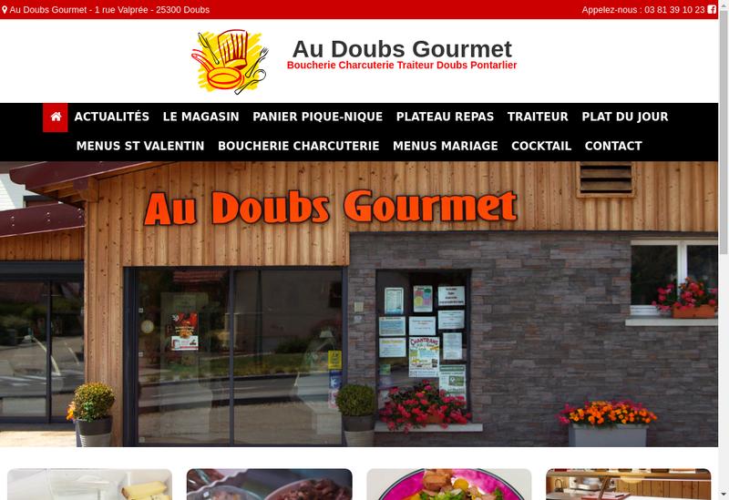 Capture d'écran du site de Au Doubs Gourmet