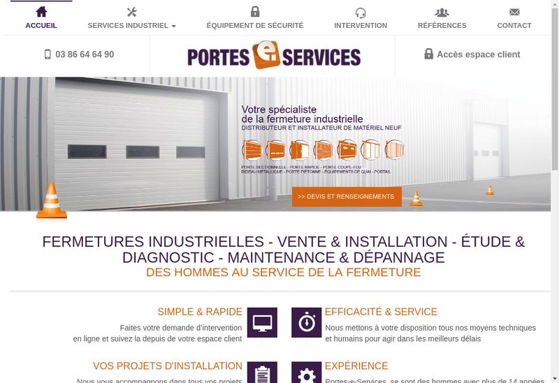 Capture d'écran du site de Portes E Services