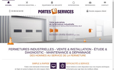 Site internet de Portes E-Services