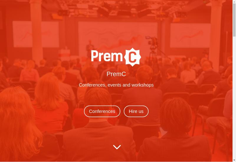 Capture d'écran du site de Premc Apps, Premc Web