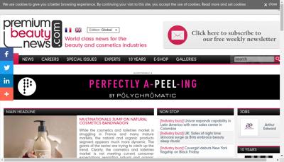 Capture d'écran du site de Premium Beauty Media