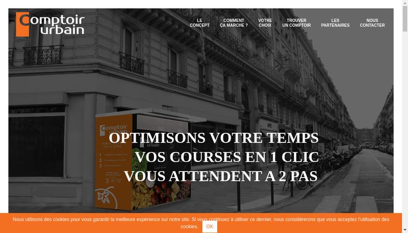Capture d'écran du site de Comptoir Urbain