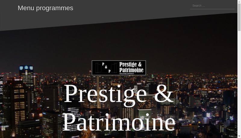 Capture d'écran du site de SARL Prestige et Patrimoine
