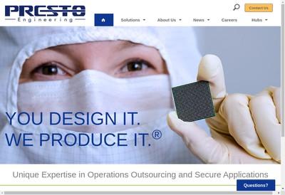 Site internet de Presto Engineering Europe