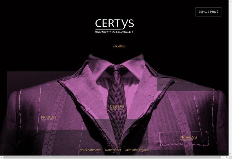 Capture d'écran du site de Privalys Gestion Privee
