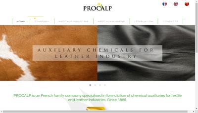Capture d'écran du site de Procalp