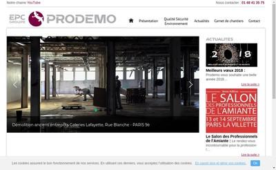 Site internet de Prodemo