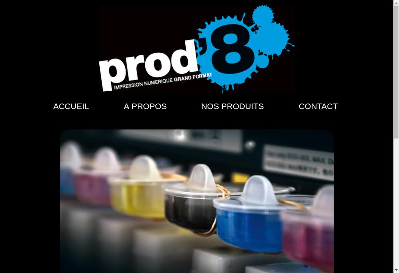 Capture d'écran du site de Prodhuit