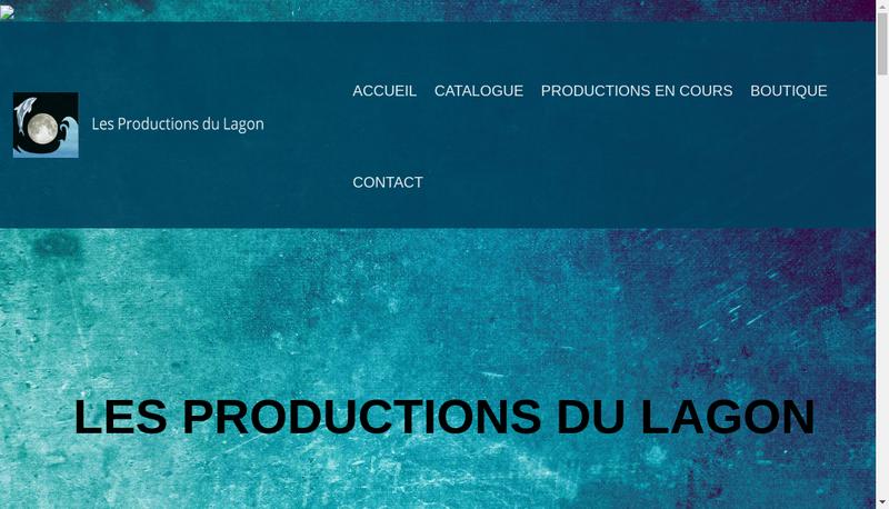 Capture d'écran du site de Les Productions du Lagon SARL