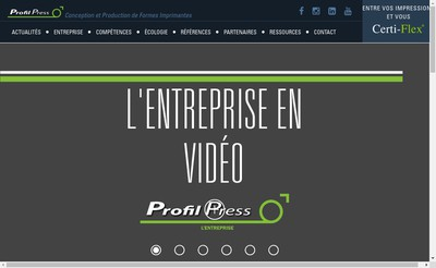 Site internet de Profil Press