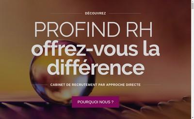 Site internet de Profind Rh
