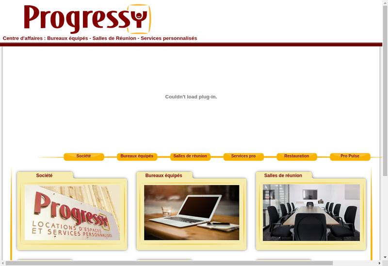 Capture d'écran du site de Progressy