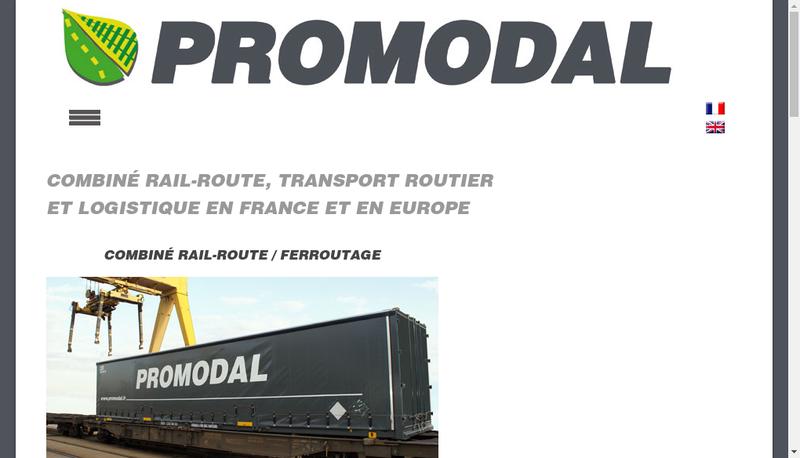 Capture d'écran du site de Promodal