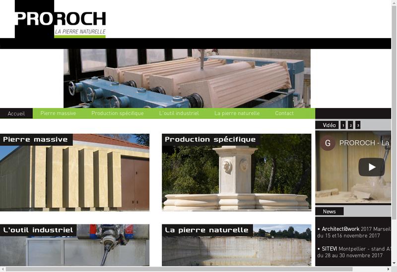 Capture d'écran du site de Proroch