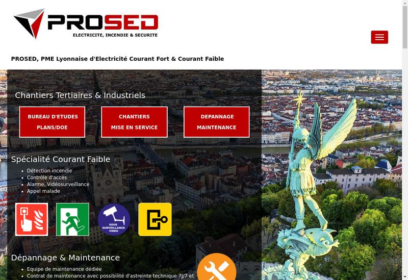 Capture d'écran du site de Prosed