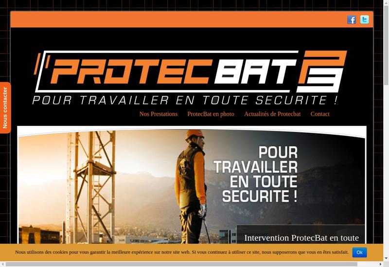 Capture d'écran du site de Protec Bat