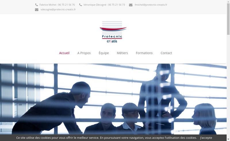 Capture d'écran du site de Protecnic - Creatis