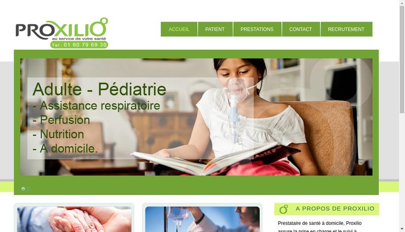 Capture d'écran du site de Proxilio